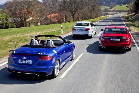 Audi TT RS BMW M550d Mercedes CLS 63 AMG