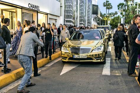 Goldene Mercedes Flotte für die 65. Goldene Palme in Cannes