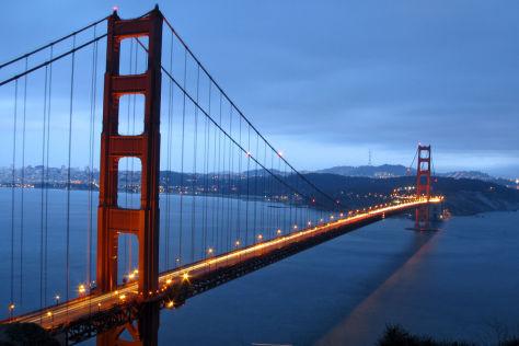 Kalifornien: Golden Gate Bridge ist 75