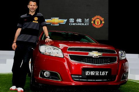 Chevrolet ist neuer Autosponsor von Manchester United