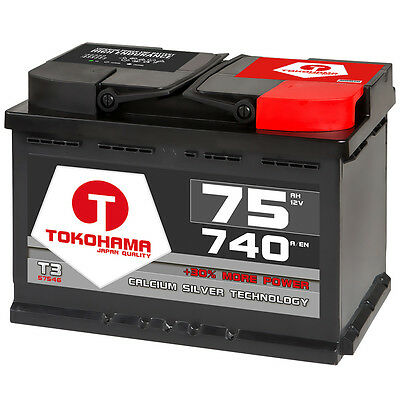 Autobatterie 75Ah +30% mehr Power Batterie ersetzt 65Ah 66Ah 70Ah 72Ah 74Ah 77Ah