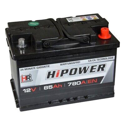 Autobatterie 12V 85Ah 780A/EN Starterbatterie ersetzt 70 71 72 74 77 80 Ah *NEU*