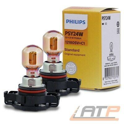 PHILIPS 12V 24W LAMPE SILVER VISION SILVERVISION CHROME PG20 DESIGN BLINKER 2x