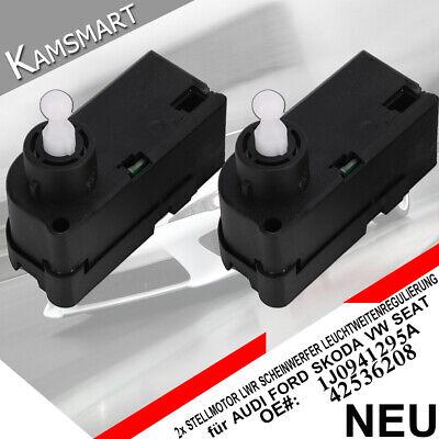 2X Stellmotor Leuchtweitenregulierung im Scheinwerfer für AUDI SKODA VW 42536208
