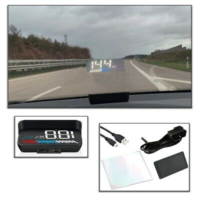 NACHRÜST-SET Auto Head Up Display Universal GPS HUD OBD 2 Digitale Anzeige