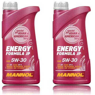 2 Liter Mannol 5W-30 Energy Formula JP Motoröl für GM Dexos 1 Gen2 WSS-M2C946-A