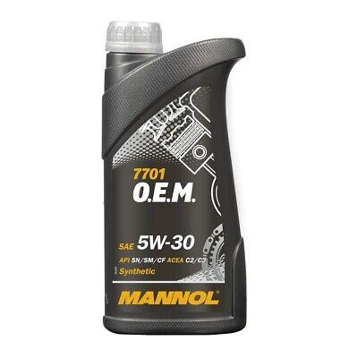 1L MANNOL O.E.M. 5W30 Motoröl für Chevrolet Opel GM Daewoo Saab API SN dexos2