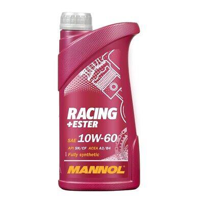 1 Liter 10W-60 Motoröl Racing+Ester ACEA A3/B3/B4 API SN/SM/CF MANNOL Motorenöl