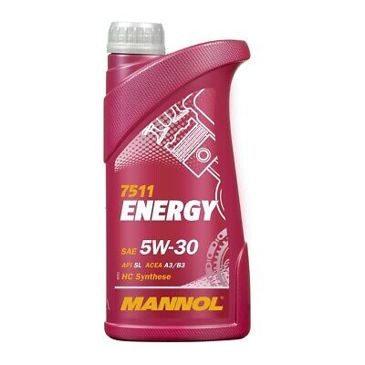 1 (1x1) Liter MANNOL SAE 5W-30 ENERGY Motoröl VW 502.00 / 505.00 / MB229.3