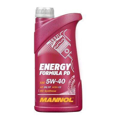 5W-40 Motoröl 1 Liter Energy Formula PD 5W-40 API SN/SM/CF ACEA C3 MANNOL