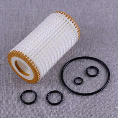 0001802609 Motorölfilter Set with 5x Rubber Ring Fit For Mercedes-Benz CLK320