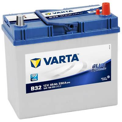 ASIA Autobatterie 12V 45Ah Varta B32 Starterbatterie Pluspol rechts 545156033