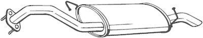 BOSAL Endschalldämpfer Auspuff Endtopf 169-103