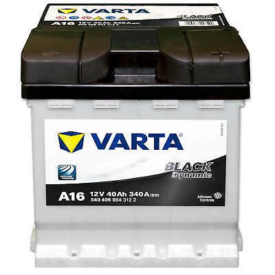Autobatterie 12V 40Ah 340A Varta A16 Black Dynamic PKW Starterbatterie FIAT