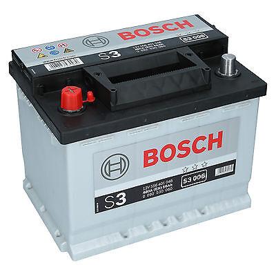 Bosch 12V 56Ah 480A EN S3 006 Autobatterie Starterbatterie PKW Batterie NEU