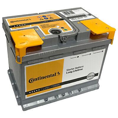 Autobatterie Continental 12V 65Ah 640A Starterbatterie Wartungsfrei Batterie