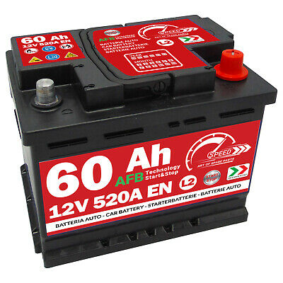 Autobatterie Speed 12V 60Ah 520A Start Stop EFB Starterbatterie AFB
