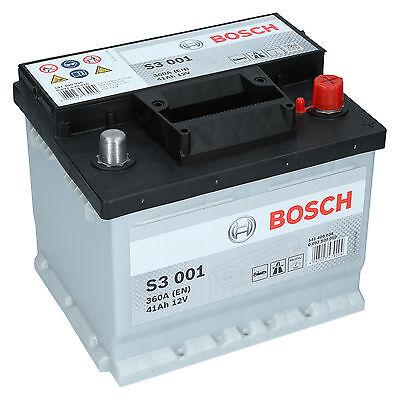 Bosch 12V 41Ah 360A EN S3 001 Autobatterie Starterbatterie PKW Batterie NEU