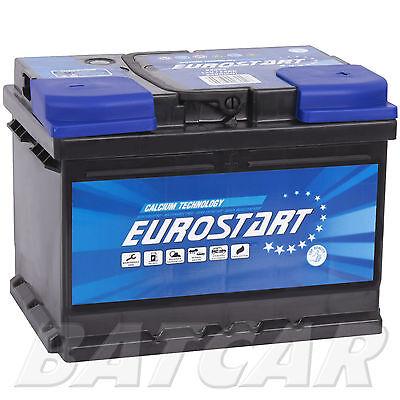 Autobatterie EUROSTART 12V 55Ah Starterbatterie Premium Batterie WoW Angebot