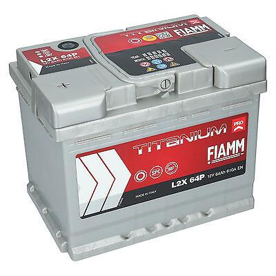 Autobatterie 12V 64Ah 610A/EN Fiamm Titanium PRO Starterbatterie L2X64P +Links