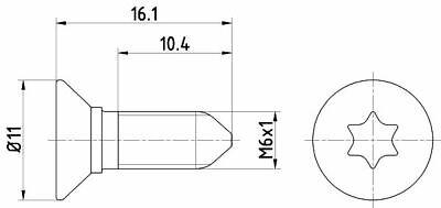 TEXTAR (TPM0008) Schraube, Bremsscheibe für AUDI MERCEDES-BENZ OPEL PEUGEOT