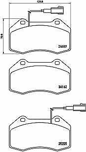 BREMBO (P 23 139) Bremsbeläge, Bremsklötze vorne für ALFA ABARTH