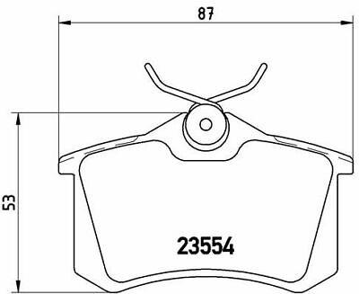 BREMBO (P 85 020) Bremsbeläge, Bremsklötze hinten für AUDI CITROEN FIAT FORD
