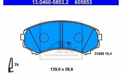 4x ATE Bremsbeläge vorne für MITSUBISHI GRANDIS PAJERO BMW X5 13.0460-5853.2