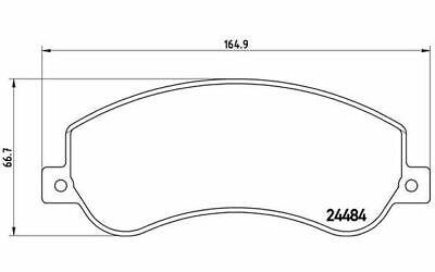 4x BREMBO Bremsbeläge vorne für VOLKSWAGEN AMAROK P 85 115 - Mister Auto