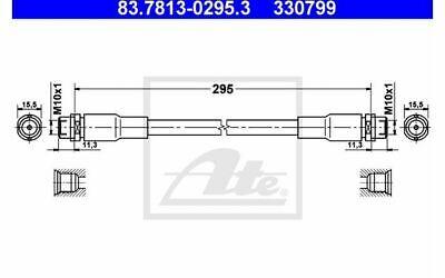 ATE Bremsschlauch für Ihr Auto für AUDI A4 A6 VOLKSWAGEN PASSAT 83.7813-0295.3