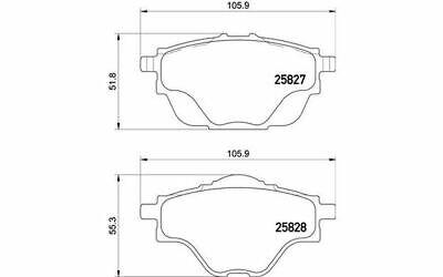 4x BREMBO Bremsbeläge hinten für CITROEN C4 P 61 124 - Mister Auto Autoteile