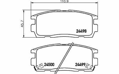 4x TEXTAR Bremsbeläge hinten für OPEL ANTARA CHEVROLET CAPTIVA 2449801