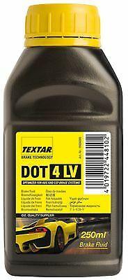 TEXTAR Bremsflüssigkeit 0,25 l DOT4LV FMVSS 116 DOT4 ISO 4925 (Class 6)