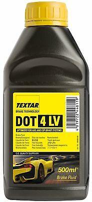 TEXTAR Bremsflüssigkeit 0,5 l DOT4LV FMVSS 116 DOT4 ISO 4925 (Class 6) SAE J