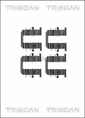 TRISCAN 8105 181011 Zubehörsatz Bremsbelag Bremsklötze für HYUNDAI KIA