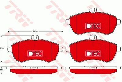 TRW (GDB1736DTE) Bremsbeläge, Bremsklötze vorne für MERCEDES