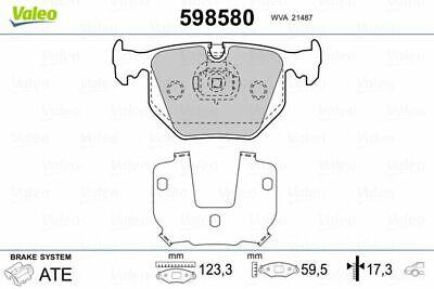 VALEO (598580) Bremsbeläge, Bremsklötze hinten für BMW ALPINA LAND ROVER