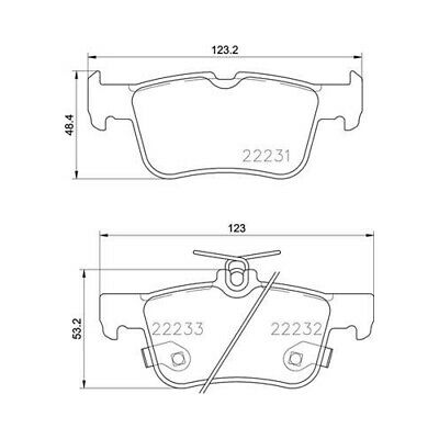 1 Bremsbelagsatz, Scheibenbremse BREMBO P 24 201 passend für FORD FORD USA