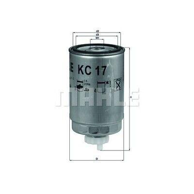 1 Kraftstofffilter MAHLE KC 17D passend für AUDI FIAT FORD HANOMAG HENSCHEL VAG