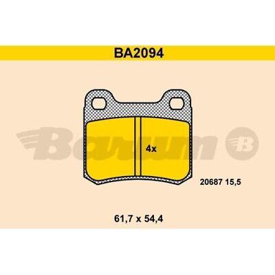 1 Bremsbelagsatz, Scheibenbremse BARUM BA2094 passend für MERCEDES-BENZ