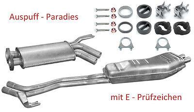 Abgasanlage Auspuff Schalldämpfer für BMW 5er E34 525i 125KW / 170PS Limo. + Kit