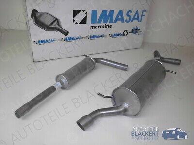 IMASAF Auspuffset ab Kat für Audi A1 1.2 TFSI 63 KW 2010- Mitteltopf + Endtopf