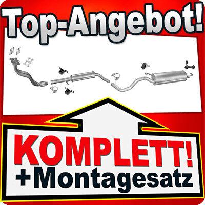 Auspuff für VW GOLF 4 IV & NEW BEETLE 1.6 8V +Rohr Auspuffanlage