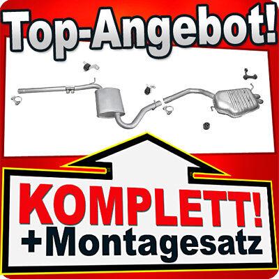 Auspuff AUDI A4 (B6) 1.9 TDI 116/130PS Stufenheck / Avant Auspuffanlage R21