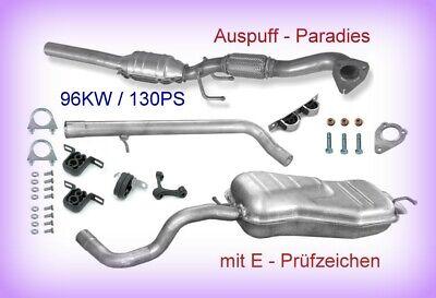 Abgasanlage mit Katalysator für Audi A3 1.9 TDI 8L1 Motorcode: ASZ 96KW + Kit