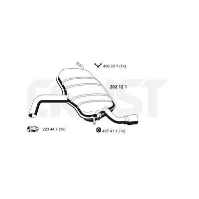 Ernst Endschalldämpfer für Audi A3 1,6