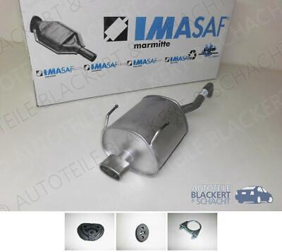 IMASAF ESD Auspuff Endtopf + Anbauteile für Fiat 500 (312) / Ford Ka 1.2