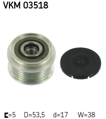 SKF Generatorfreilauf für Fahrzeuge mit Start-Stopp-Funktion VKM 03518