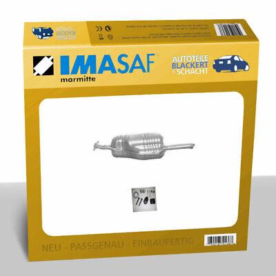 IMASAF ESD Auspuff Endtopf für Opel Astra G Stuf. Diesel 1.7/2.0 55-74KW Flansch