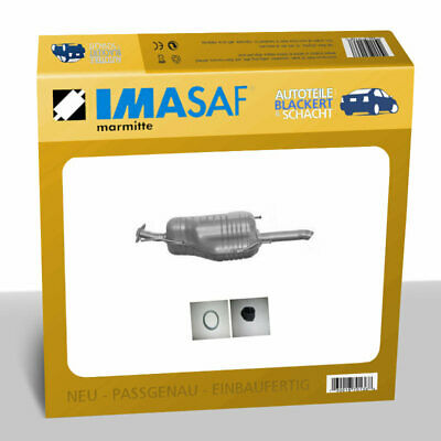 IMASAF ESD Auspuff Endtopf für Opel ASTRA G Stufenh. 2.0 DTI/2.2 DTI Flansch